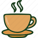 beverage, cup, food, hot icon