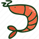 food, sea food, shrimp icon