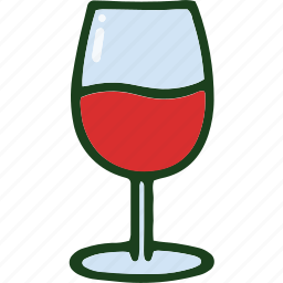 beverage, food, red, wine icon