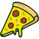 bread, fod, junk food, pizza, toppings icon
