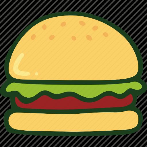 bread, burger, food, junk food icon