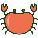 crab, food, sea food icon
