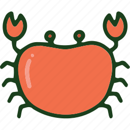crab, food, sea food icon