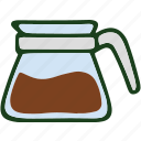 beverage, coffee, food, jar icon