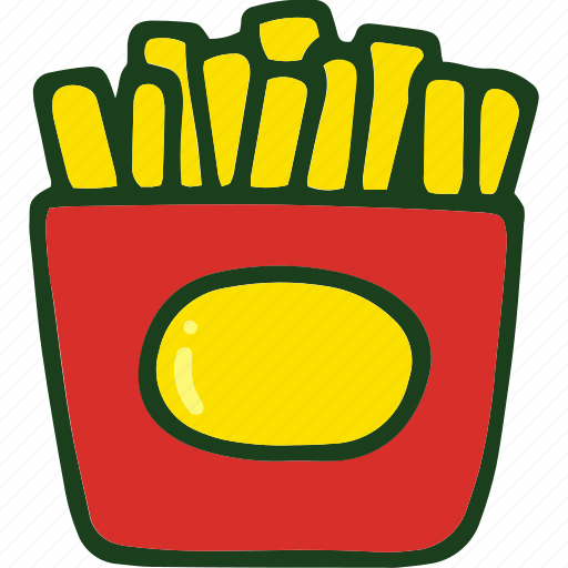 fast food, food, french, fries, junk food, potato icon