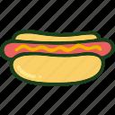 bread, dog, food, hot, sausage icon