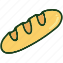 baguette, bread, food icon