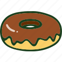 bread, doughnut, food icon