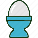 boiled egg, egg, food icon