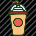 drink, food, ice cream, milkshake icon