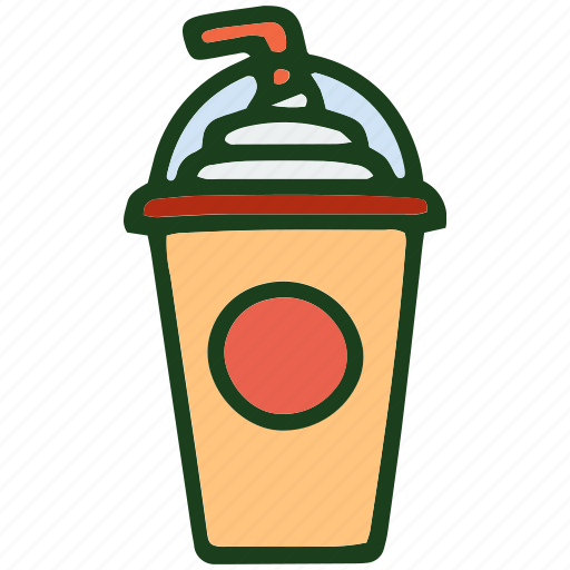drink, food, ice cream, milkshake icon
