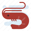 prawn, seafood, sellfish icon