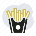 fried potatoes, chips, potatoes icon