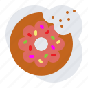 cholesterol, donut, junk food icon