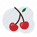 cherry, fruit icon