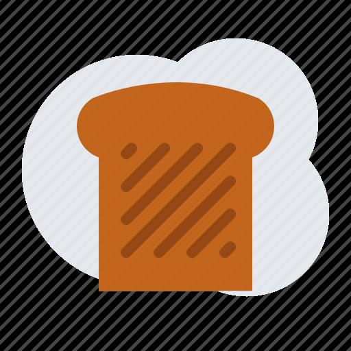 breakfast, toast icon