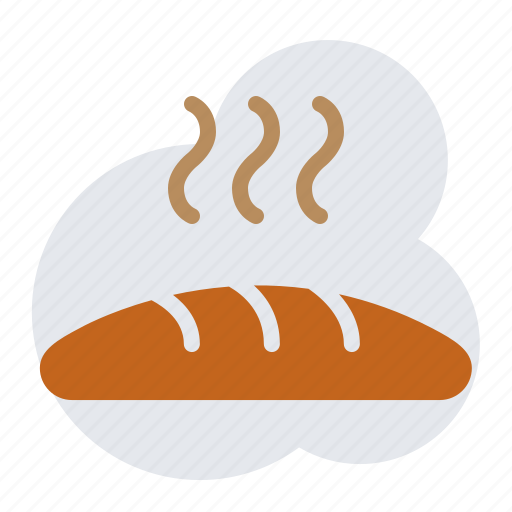 bread, fresh bread icon