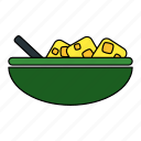 bowl, food, kitchen, meal icon