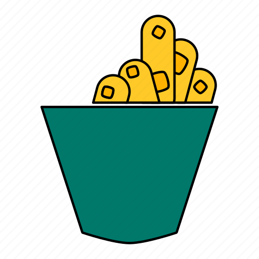 French, fries, potato, snack icon - Download on Iconfinder