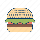 burger, cheeseburger, fastfood, hamburger, meal, sandwich icon