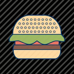 burger, cheeseburger, fastfood, hamburger, meal, sandwich icon