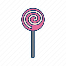 candy, lollipop, lollypop, snack, sugar, sweets, toffee icon