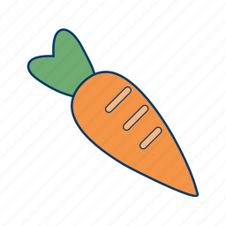 carrot, carrots, food, healthy, vegetables icon