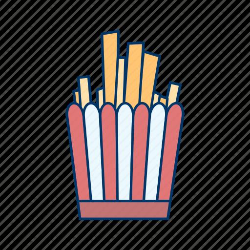 chips, fast, fastfood, fingerchips, frenchfries, potato, restaurant icon