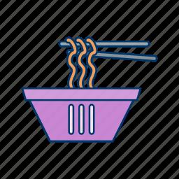 bowl, chinese, chopsticks, noodle, spaghetti icon