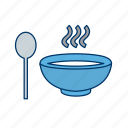 chinese, hot, noodles, pot, soup, spoon icon