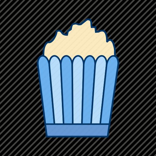 corn, entertainment, movie, popcorn, snack icon