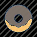 bakery, biscuit, chocolate, dessert, donut, doughnut, food icon