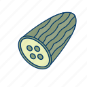 cucumber, diet, food, healthy, plant, salad, vegetables icon
