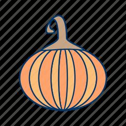 food, halloween, pumpkin, spooky, vegetable icon