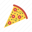 cheese, meal, piece, pizza, restaurant, slice icon