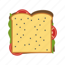 bread, fast, food, sandwich icon