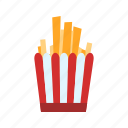 chips, french fries, fries icon
