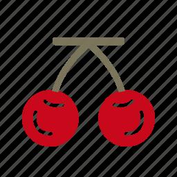 cherry, fruit, healthy icon