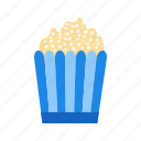 fast food, popcorn, snack icon