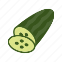 cucumber, food, salad, vegetable icon