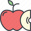 apple, eating, food, health, nutrition, slice icon