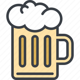 alcohol, beer, drink, food, mug icon