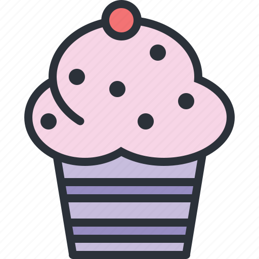 cupcake, desert, eating, food, muffin, sweets icon