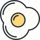 breakfast, eating, eggs, food, scrambled icon
