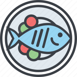 eating, fish, food, health, nutrition, plate icon