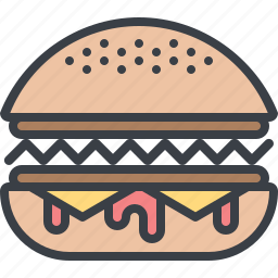 burger, eating, fast food, food, hamburger, junk food icon