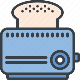 appliance, bread, breakfast, eating, food, toaster icon