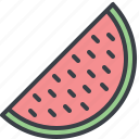 eating, food, melon, slice, watermelon