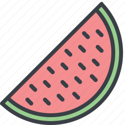 eating, food, melon, slice, watermelon icon