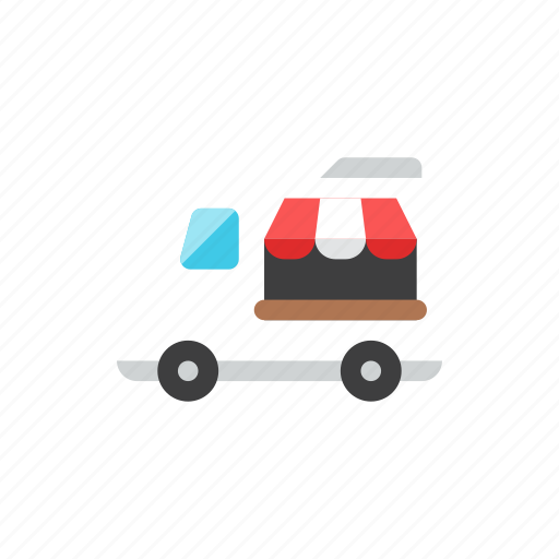 shop, truck icon